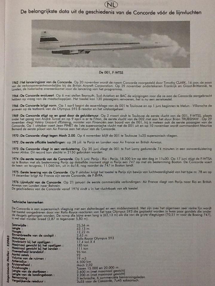 SUD AVIATION - BRITISH AIRCRAFT CORPORATION  CONCORDE 1/72ème Réf 52903 Notice Helle224