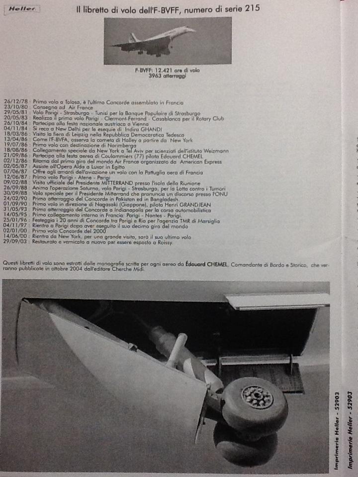 SUD AVIATION - BRITISH AIRCRAFT CORPORATION  CONCORDE 1/72ème Réf 52903 Notice Helle235