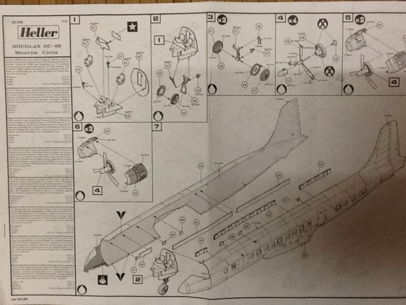 DOUGLAS DC 6B Sécurité civile 1/72ème Réf 80306 Notice  Helle403
