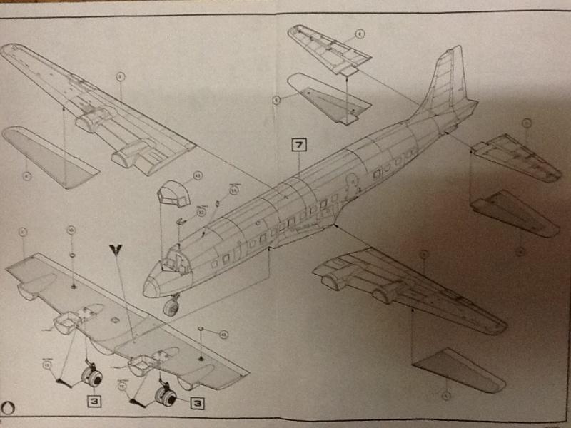 DOUGLAS DC 6B Sécurité civile 1/72ème Réf 80306 Notice  Helle404