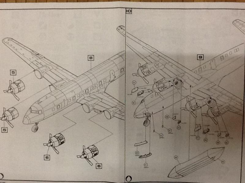 DOUGLAS DC 6B Sécurité civile 1/72ème Réf 80306 Notice  Helle405