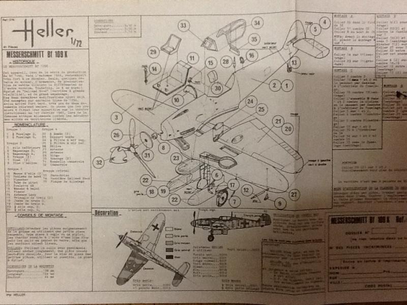 MESSERSCHMITT Bf109 K 1/72ème Ref Helle504