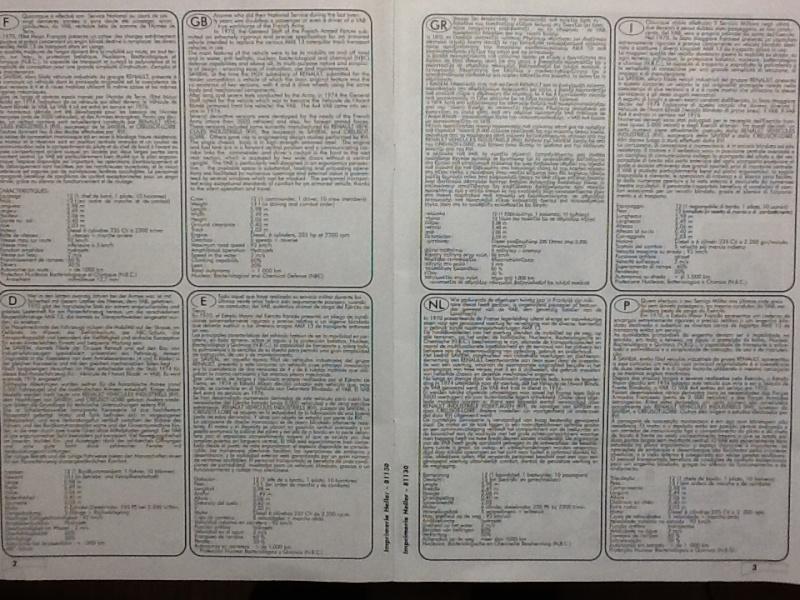 VAB 4X4 1/35ème Ref81130 Notice Helle560