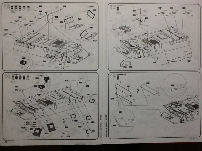 VAB 4X4 1/35ème Ref81130 Notice Helle566