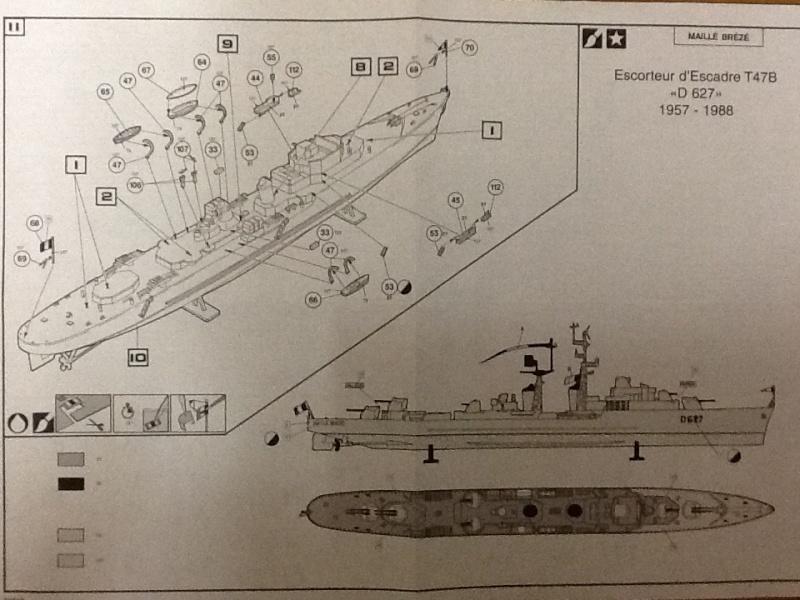 Escorteur d Escadre T 47 B MAILLE BREZE 1/400ème Réf 61012 Notice Helle676