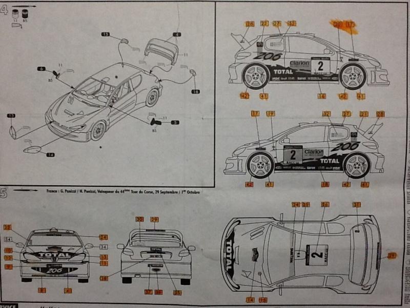 PEUGEOT 206 WRC 1/43ème Ref 80198 Notice Helle971