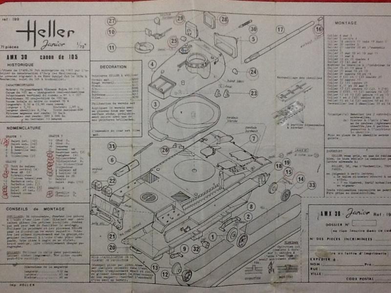 AMX 30 canon de 105 1/72ème Ref 199 Notice Heller46