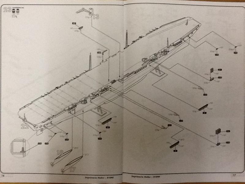 Porte avions ARROMANCHES 1/400ème Ref 81090 Heller56