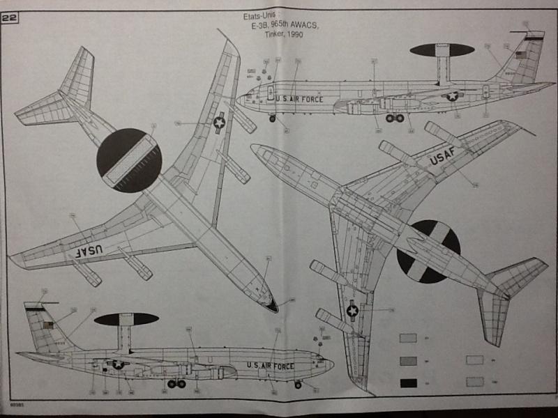 BOEING AWACS 1/72ème Ref 80383 Heller91