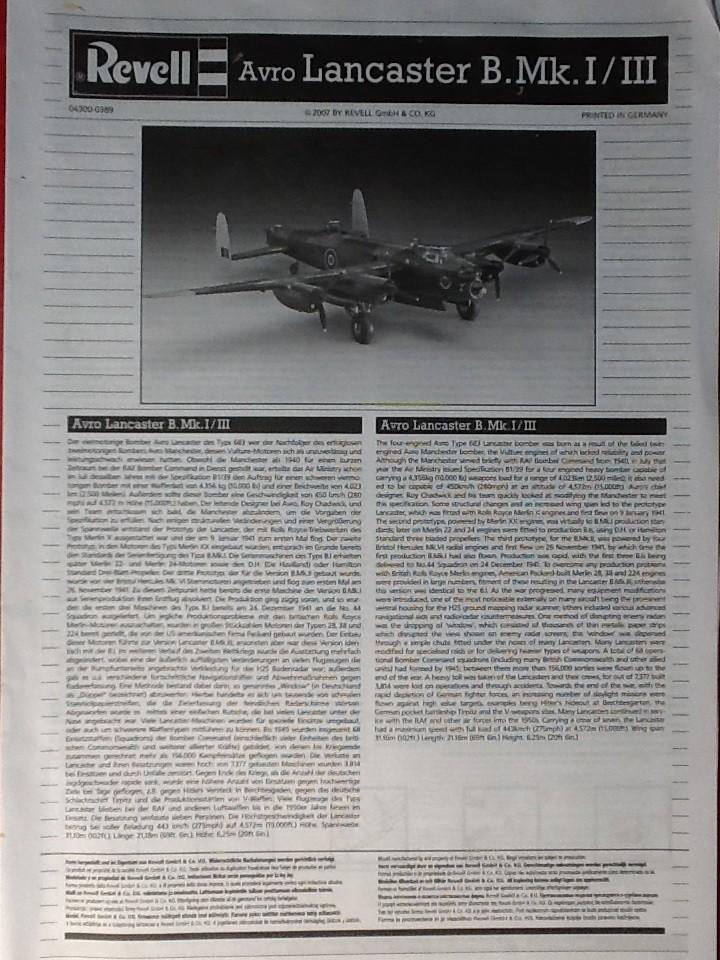 Comparatif AVRO LANCASTER B1 SPECIAL vs AVRO LANCASTER BIII DAM BUSTER 1/72èmeme Revell33