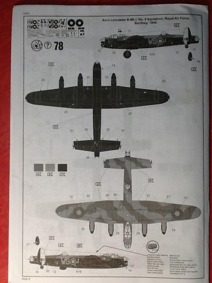 Comparatif AVRO LANCASTER B1 SPECIAL vs AVRO LANCASTER BIII DAM BUSTER 1/72èmeme Revell39