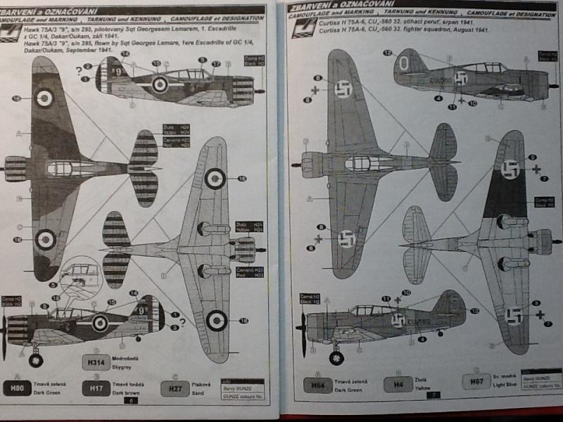 Comparatif et différence entre les différenets CURTISS HAWK et P 36 en ma possession au 1/72ème Specia15