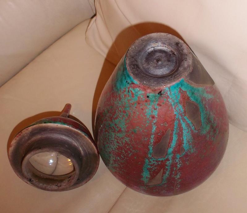 Tall Raku Lustre Glaze Urn/Jar Unmarked Dscf3119