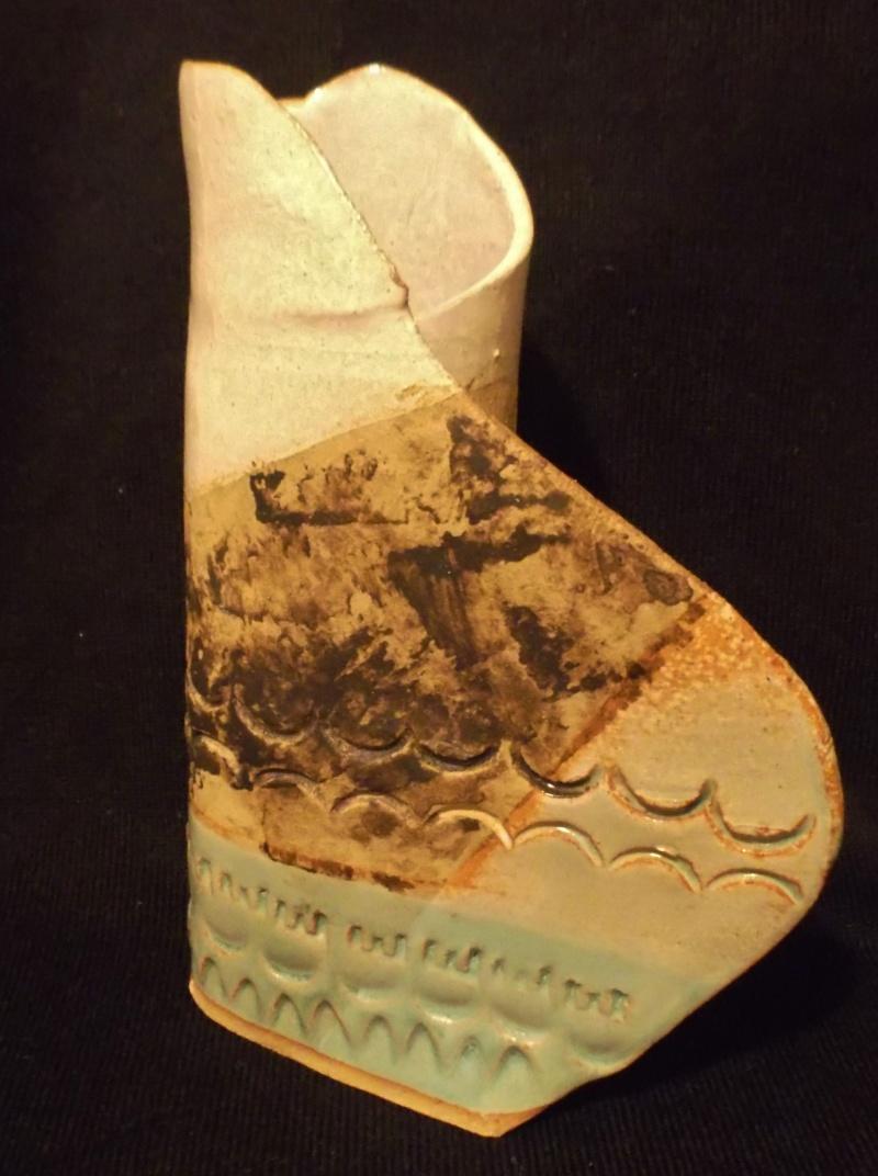 Unusual Little Item/Sculpture, Rolled Sheet Of Clay Dscf3210
