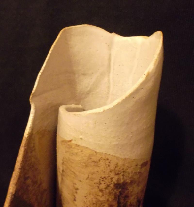 Unusual Little Item/Sculpture, Rolled Sheet Of Clay Dscf3213