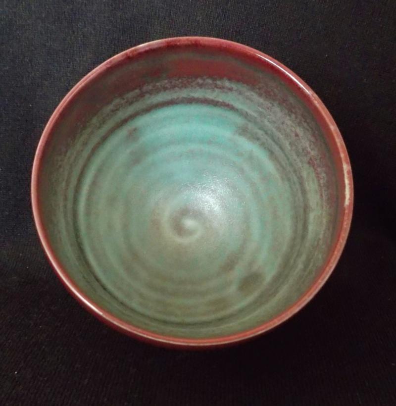 Porcelain Bowl, Chawan, Red & Copper Oxide Glaze Dscf3317