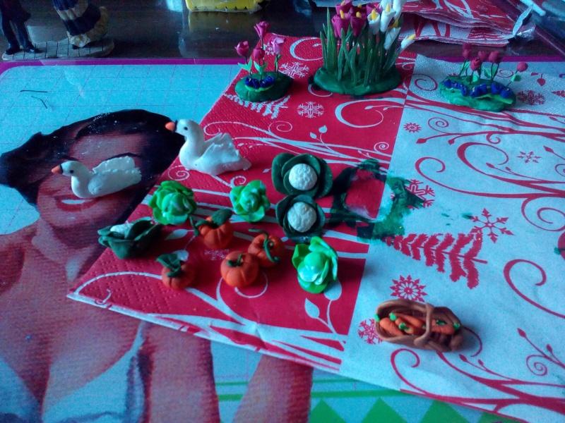 Photos créations accessoires villages FIMO P_201517