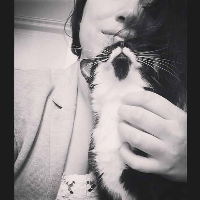 Jazzynou, femelle, 09.2014, noire et blanche  Img_3110