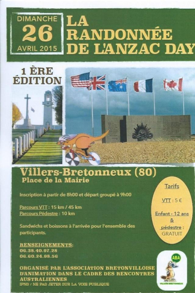 [80] - L'ANZAC DAY - 26 AVRIL 2015 - VILLERS-BRETONNEUX - Scan0012