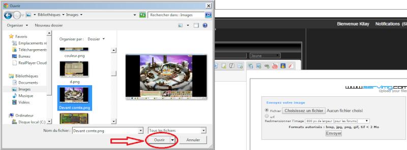 Comment ajouté des screens. Img210