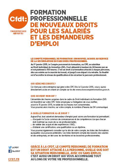 Formation professionnelle de nouveaux droits pour les salariés et les demandeurs d'emploi Format11