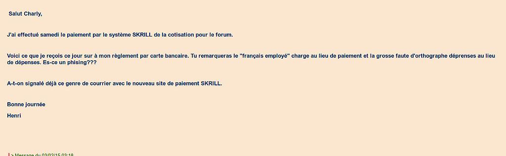 [Résolu] Email de skryll étrange après achats de crédits. Framer11
