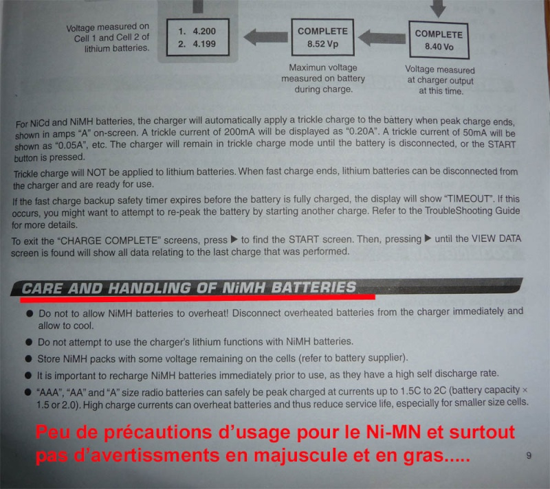Choisir ses Accus ou Batteries Lipo ou Nimh pour débutants en Scale Trial 4x4 Off-road Nimh-310