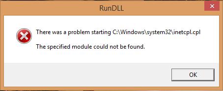 [SOLVED] INETCPL.CPL Error11