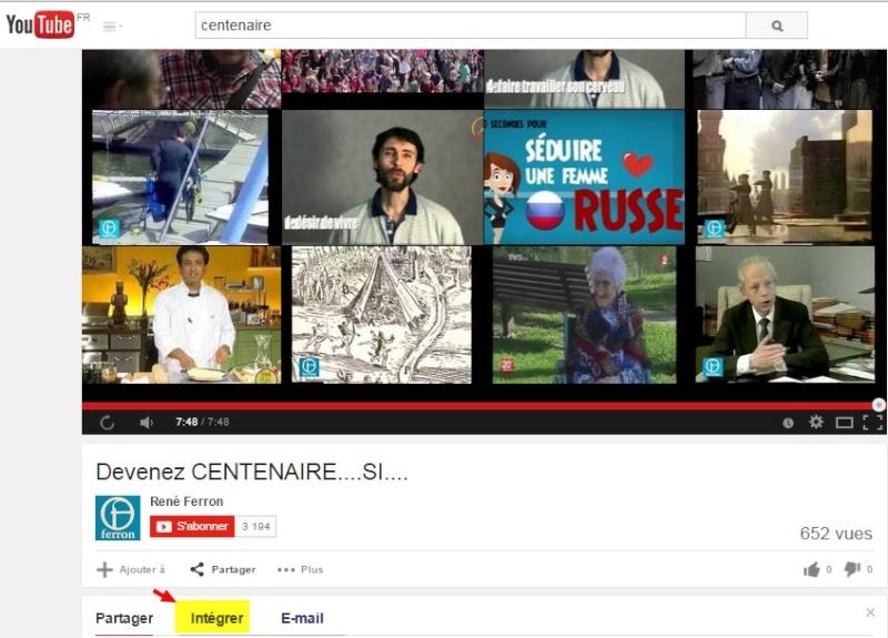 5- Comment intégrer une vidéo  Youtube dans votre message ? Etape_10