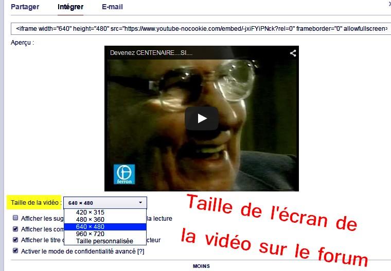 5- Comment intégrer une vidéo  Youtube dans votre message ? Etape_12