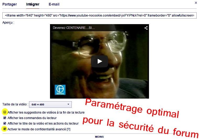 5- Comment intégrer une vidéo  Youtube dans votre message ? Etape_13
