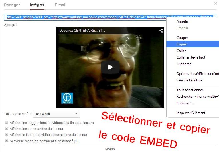 5- Comment intégrer une vidéo  Youtube dans votre message ? Etape_14