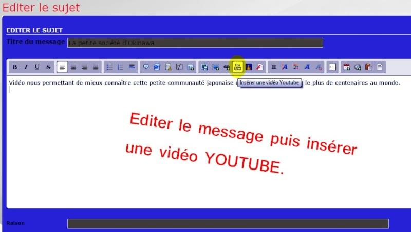 5- Comment intégrer une vidéo  Youtube dans votre message ? Etape_15