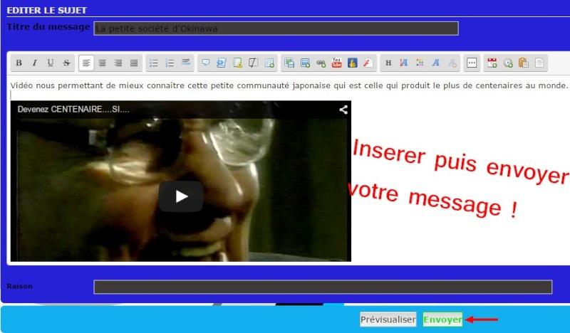 5- Comment intégrer une vidéo  Youtube dans votre message ? Etape_17