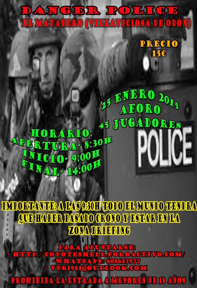 Danger police, partida abierta 25.01.15 El Matadero (Villaviciosa de Odon) Danger11