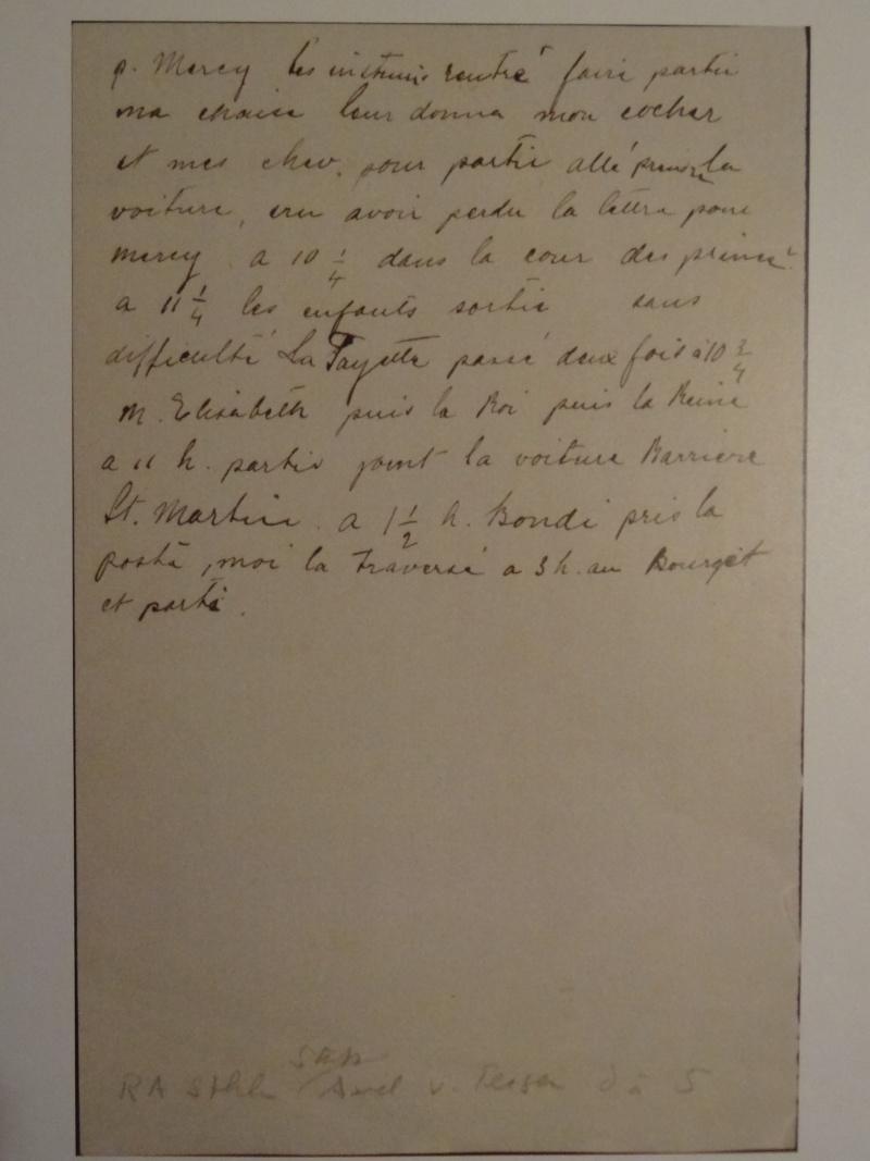Lettres, mots, notes et extraits du journal d'Axel de Fersen - Page 2 Dsc00011