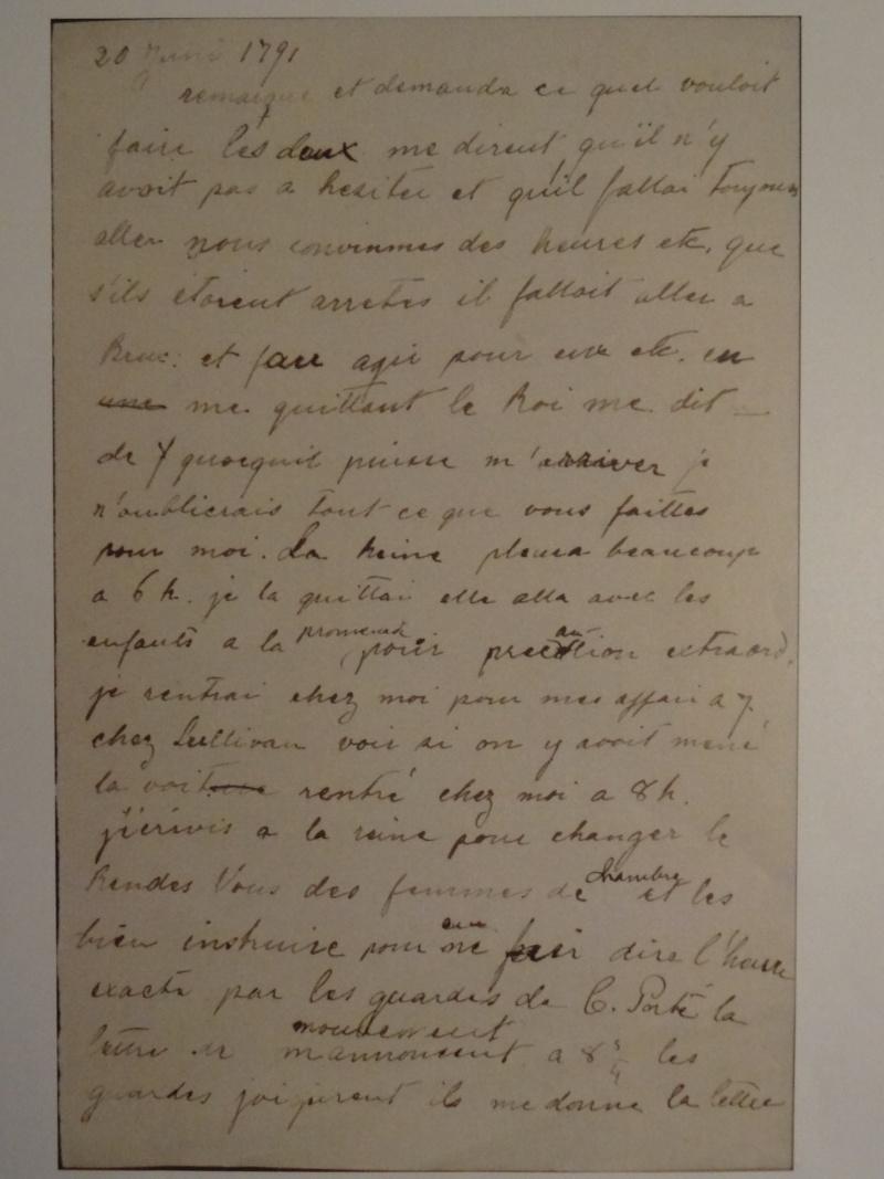Lettres, mots, notes et extraits du journal d'Axel de Fersen - Page 2 Dsc00012