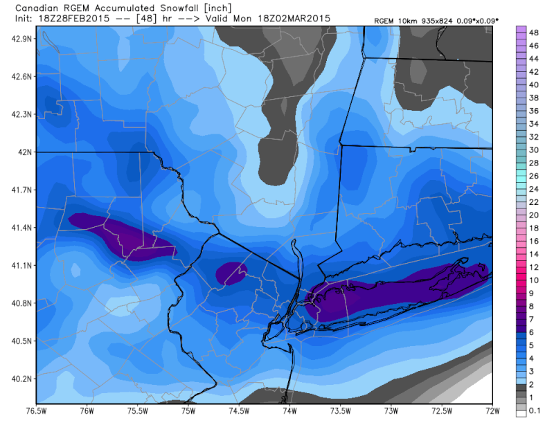 Sunday-Monday Snowstorm - 2nd Call Snow Map - Page 3 Rgem_s11
