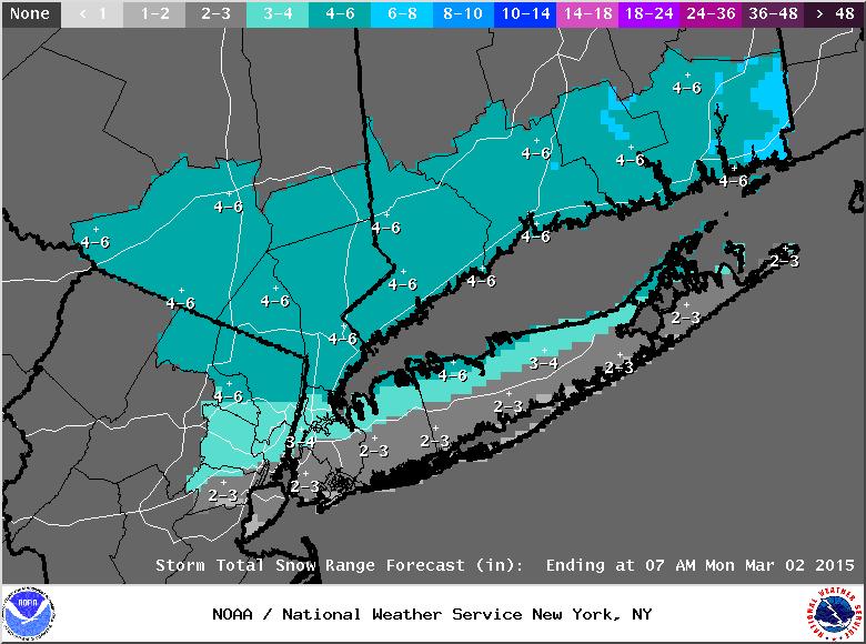 Sunday-Monday Snowstorm - 2nd Call Snow Map Stormt25