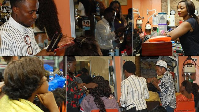 In pictures: Nigerian banker turned hairstylist spins money N110