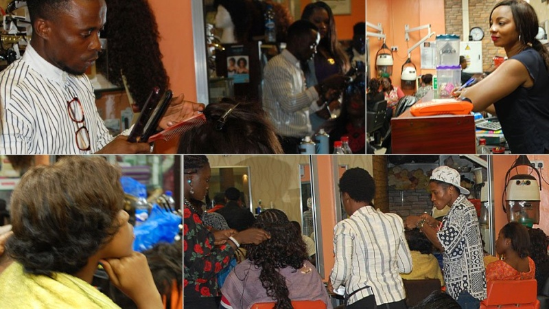 In pictures: Nigerian banker turned hairstylist spins money N210