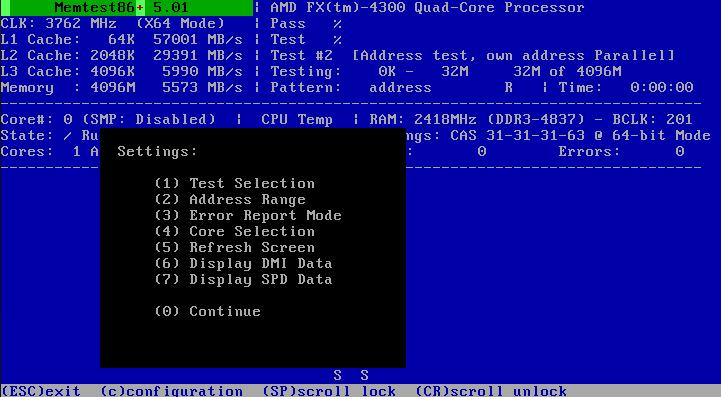 Ultimate Boot CD v5 : Tester son matériel, modifier une partition, supprimer un mot de passe de session, récupération de données... Memtes10