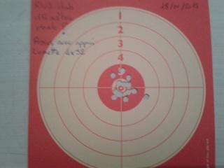 Présentation de mon crosman 1377 (pc77b) modifier et quelques tirs sur cartons. Cible_14
