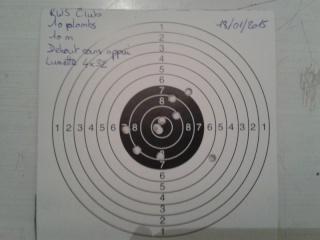 Présentation de mon crosman 1377 (pc77b) modifier et quelques tirs sur cartons. Cible_16