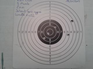 Présentation de mon crosman 1377 (pc77b) modifier et quelques tirs sur cartons. Cible_17