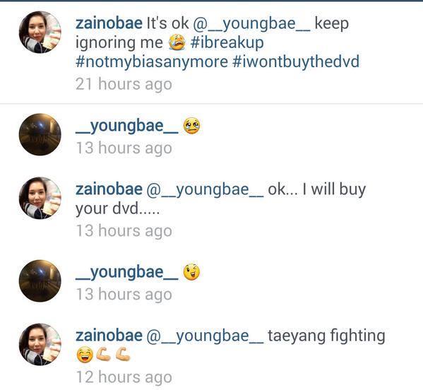 Taeyang répond à une fan sur Instagram 10410410