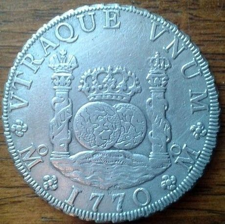 agains about 8 reales Dos Mundos 1770 , genuine or fake ? 110