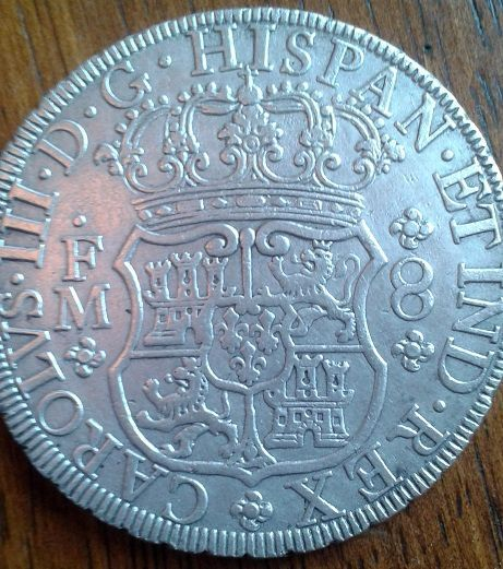 agains about 8 reales Dos Mundos 1770 , genuine or fake ? 210
