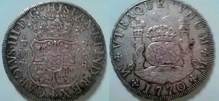 agains about 8 reales Dos Mundos 1770 , genuine or fake ? Unname10