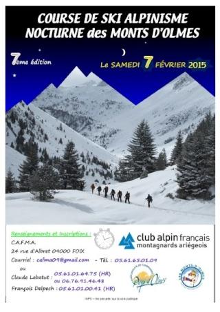 Course de Ski Alpinisme Nocturne des Monts d'Olmes Course11